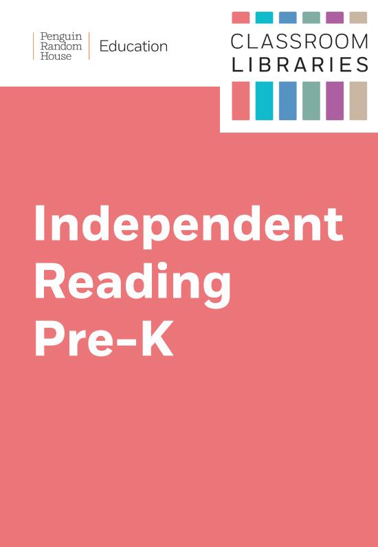 Classroom Libraries: Independent Reading – Grade PreK
